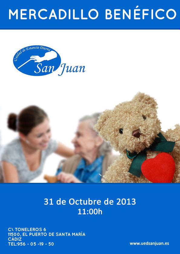 Mercadillo Benéfico en UED San Juan. Centro de dia para mayores