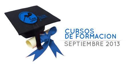 Cursos de formación para septiembre de 2013 UED San Juan